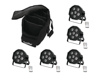 Eurolite Set 5x LED SLS-6 UV Floor + Case