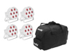 Eurolite Set 5x LED SLS-7 HCL Spot white + Soft Bag
