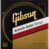 Gibson Gear Coated 80/20 Bronze Acoustic Guitar Strings | Ultra-Light