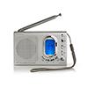 Nedis FM-radio 1.5W Alarm Grey