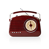 Nedis FM-radio 4.5 W Brown