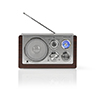 Nedis FM-radio 9 W Analog Retrodesign Brown