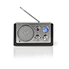 Nedis FM-radio 9 W Analog Retrodesign Black