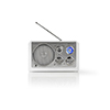 Nedis FM-radio 9 W Analog Retrodesign White
