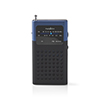 Nedis FM-radio 1.5 W Pocketsize Black/Blue