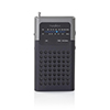 Nedis FM-radio 1.5 W Pocketsize Black/Grey