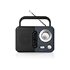 Nedis FM-radio 2.4 W Black/Grey