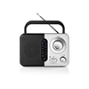 Nedis FM-radio 2.4 W Black/White