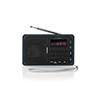 Nedis FM-radio 3.6 W USB + microSD Black/Grey