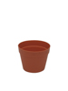 Flowerpot plastic, red, 17cm