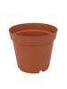 Flowerpot plastic, red, 24cm