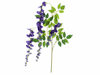 Wisteria branch, artificial, purple