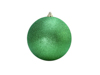 Deco Ball 10cm, applegreen, glitter 4x