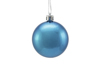 Deco Ball 6cm, blue, metallic 6x