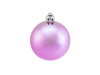 Deco Ball 6cm, pink, metallic 6x