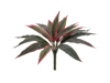 Dracena, red-green, artificial, 27cm
