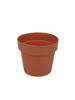 Flowerpot plastic, red, 20cm