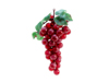 Grapes with leaves, artificial, red