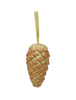 Pinecone hanger, glitter, gold, 18cm