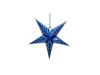 Star Lantern, Paper, blue, 40 cm