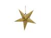 Star Lantern, Paper, gold, 40 cm