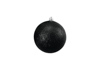 Deco Ball 10cm, black, glitter 4x