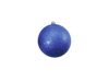 Deco Ball 10cm, blue, glitter 4x