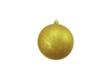 Deco Ball 10cm, gold, glitter 4x