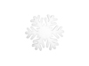 Snowflake made of snow matting, 29cm, flame retardant B1