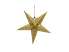 Star Lantern, Paper, gold, 50 cm