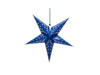 Star Lantern, Paper, blue, 50 cm