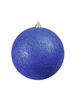 Deco Ball 20cm, blue, glitter