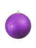 Deco Ball 20cm, purple, glitter