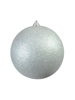 Europalms Deco Ball 20cm, silver, glitter