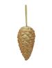 Europalms Pinecone hanger, glitter, gold, 23cm