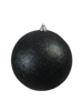 Deco Ball 20cm, black, glitter