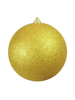 Deco Ball 20cm, gold, glitter