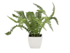 Boston fern in pot, artificial plant, 25cm