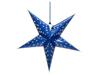 Star Lantern, Paper, blue, 75 cm