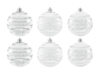 Deco Ball 7cm, clear, diverse designs 6x
