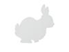 Silhouette Bunny, white, 56cm