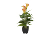 Mini Calla, artificial plant, yellow-orange, 43cm