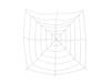 Halloween Spiderweb, 180x180cm
