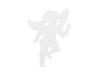 Silhouette Angel, white, 60cm