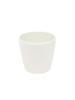 Deco cachepot LUNA-20, round, white