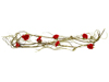 Rose Garland (EVA), artificial, red