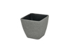 Deco cachepot STONA-20, rectangular, grey
