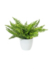Fern bush in pot, artificial plant , 22 leaves, 33cm