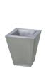 Flowerpot, zinc, 25cm square