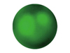 Deco Ball 3,5cm, green, metallic 48x